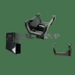 PK of 3 x RKS1B Black FLOPLAST Fascia Gutter Bracket for 114mm Square Gutter System