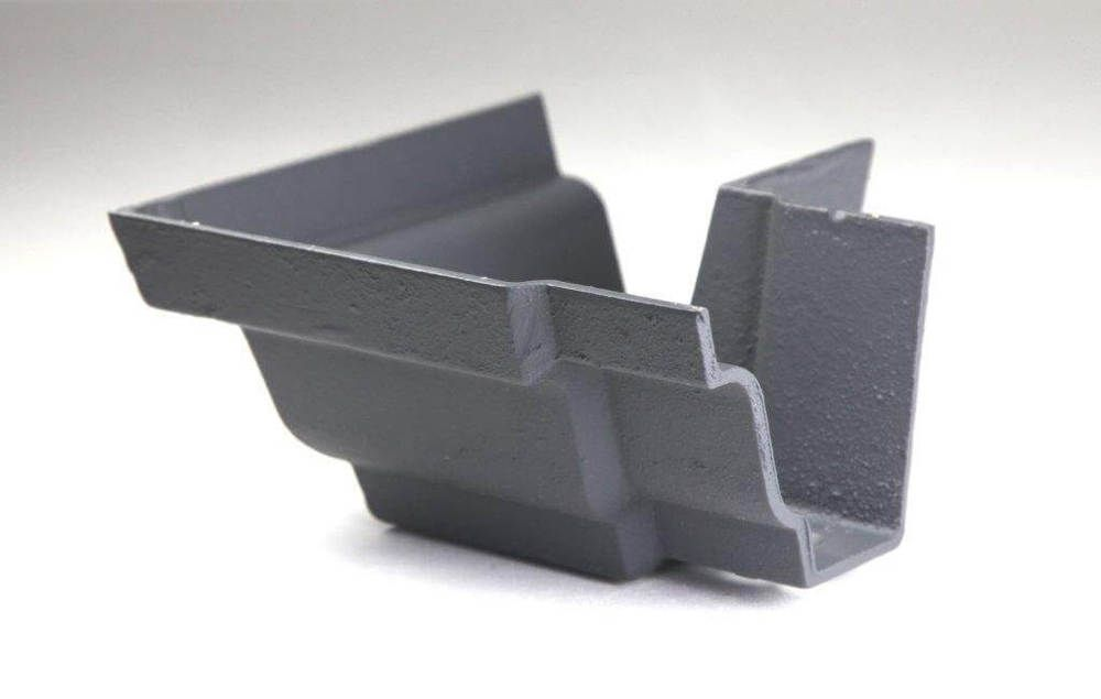 Cast Iron Moulded Ogee Gutter External Angle - 90 Degree x 100mm Primed