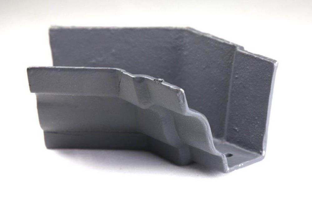 Cast Iron Moulded Ogee Gutter Internal Angle - 135 Degree x 100mm Primed