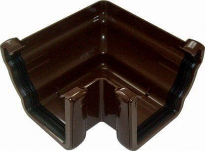 Ogee Gutter External Angle - 90 Degree x 80mm Brown