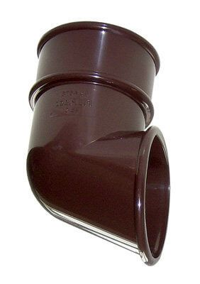 Mini Gutter Downpipe Shoe - 50mm Brown