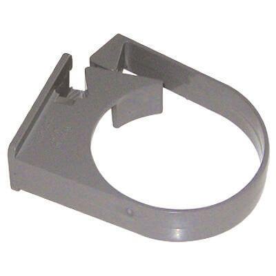 Round Downpipe Side Fix Clip - 68mm Grey