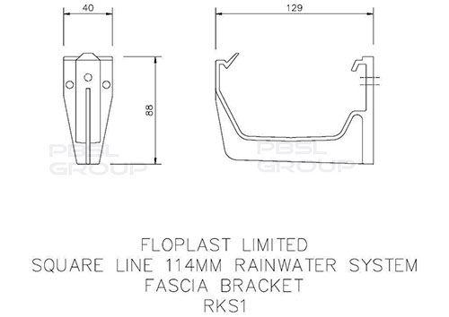 Square Gutter Fascia Bracket - 114mm Brown