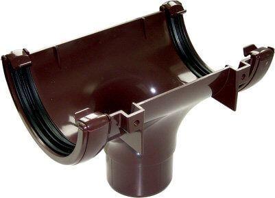 Mini Gutter Running Outlet - 76mm Brown
