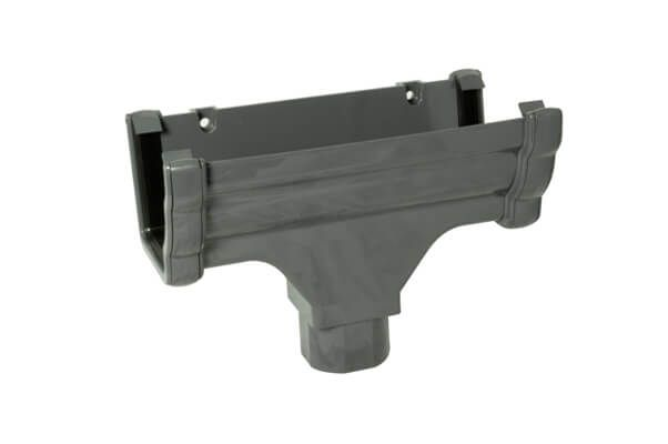 Ogee Gutter Running Outlet - 110mm x 80mm Anthracite Grey