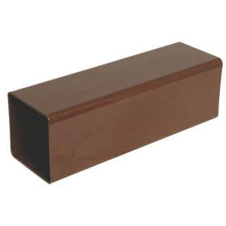 Square Downpipe - 65mm x 2.5mtr Brown