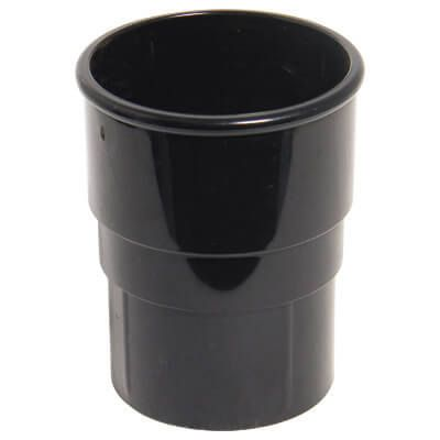 Round Downpipe Socket - 68mm Black