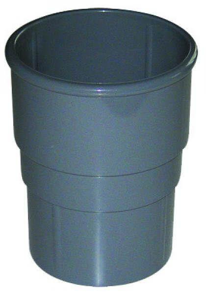Round Downpipe Socket - 68mm Grey