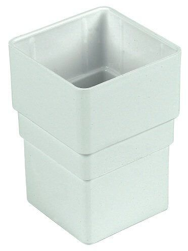 Square Downpipe Socket - 65mm White