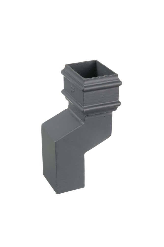 Cast Iron Rectangular Downpipe - 56mm Front Projection 100mm x 75mm Primed