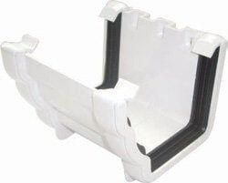 Ogee Gutter Union Bracket - 110mm x 80mm White