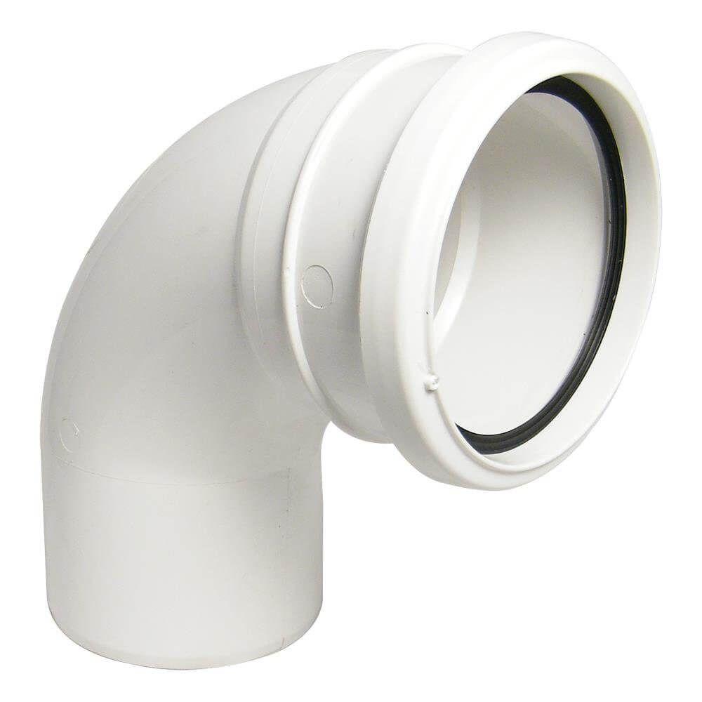 Industrial/ Xtraflo Downpipe Single Socket Bend - 92.5 Degree x 110mm White
