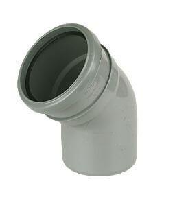 Industrial/ Xtraflo Downpipe Single Socket Bend - 135 Degree x 110mm Grey