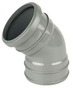 Industrial/ Xtraflo Downpipe Solvent Weld Offset Bend Top - 110mm Grey
