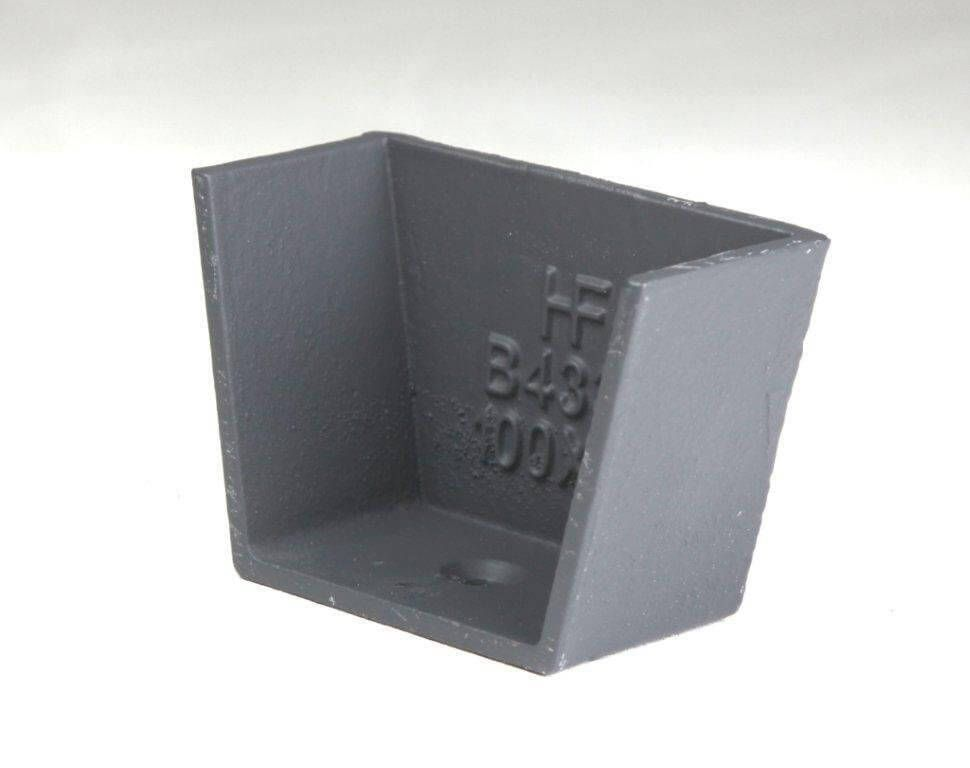 Cast Iron Box Gutter Stopend - 100mm Primed