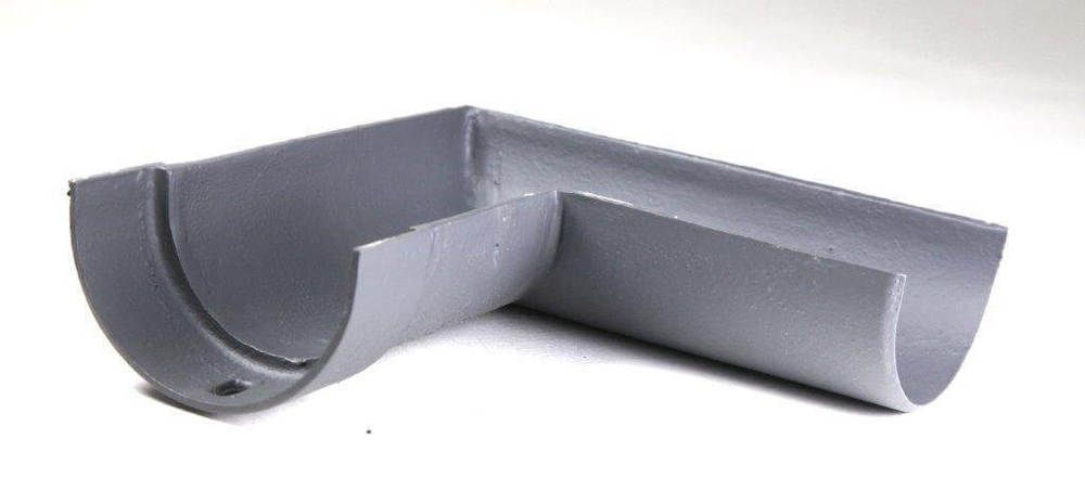 Cast Iron Deep Half Round Gutter Right Hand Angle - 90 Degree x 100mm Primed