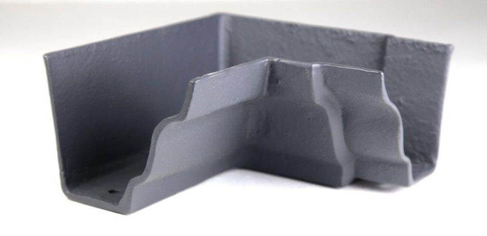 Cast Iron Moulded Ogee Gutter Internal Angle - 90 Degree x 100mm Primed