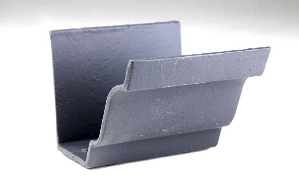 Cast Iron Moulded Ogee Gutter Union - 100mm Primed