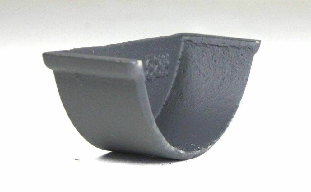 Cast Iron Beaded Half Round Gutter Internal Stopend - 125mm Primed