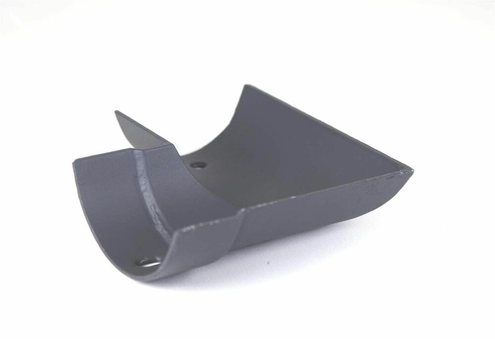 Cast Iron Half Round Gutter Left Hand Angle - 90 Degree x 115mm Primed