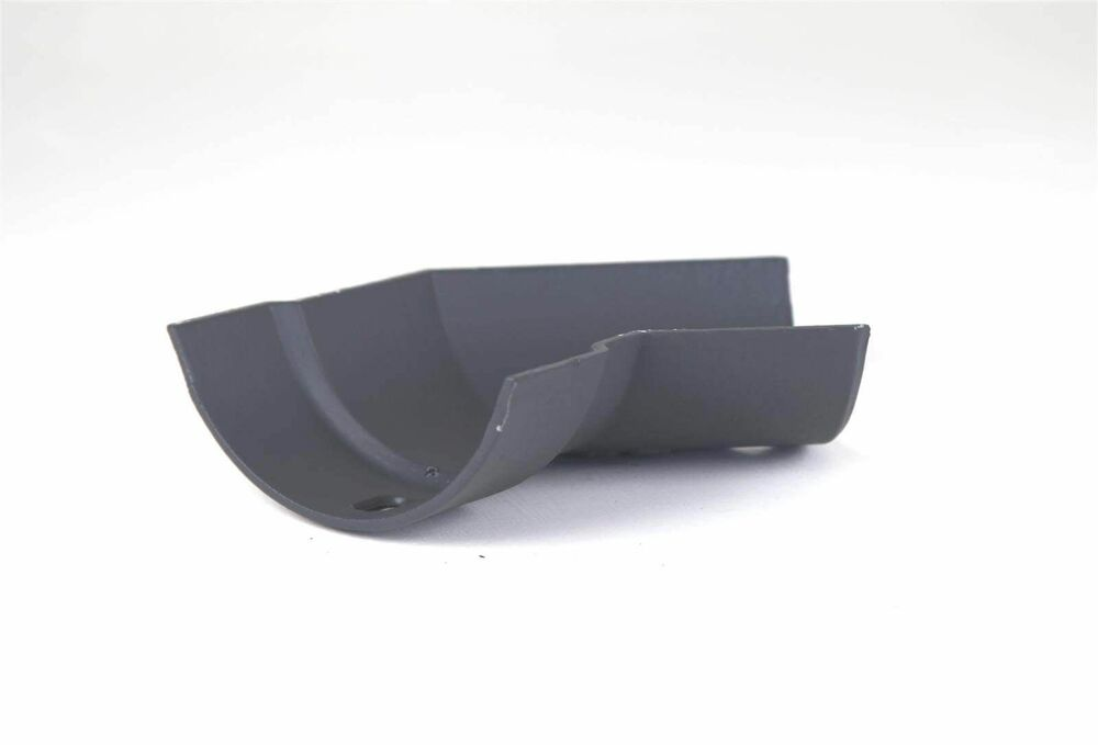 Cast Iron Half Round Gutter Right Hand Angle - 135 Degree x 115mm Primed