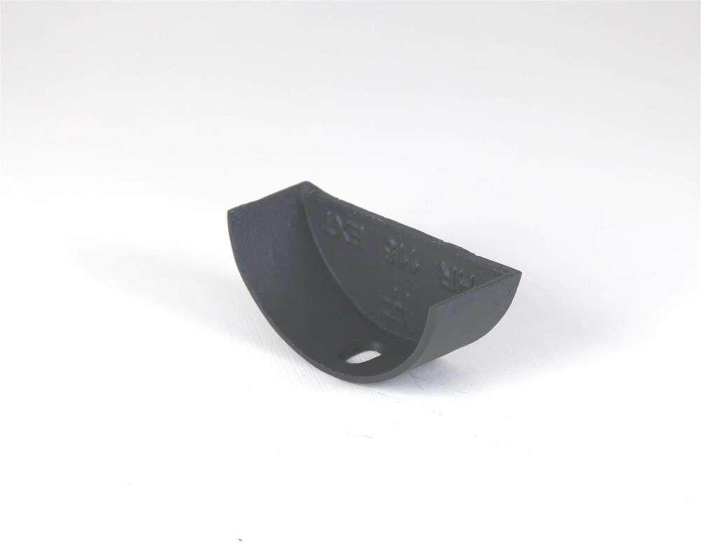 Cast Iron Half Round Gutter Internal Stopend - 150mm Primed