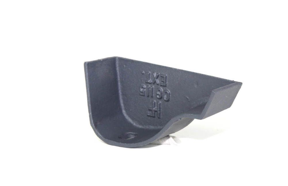Cast Iron Ogee Gutter Right Hand Stopend - 115mm Primed
