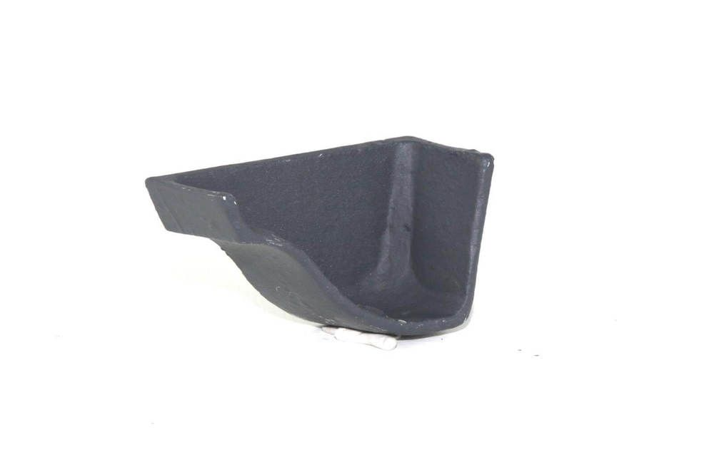 Cast Iron Ogee Gutter Left Hand Stopend - 115mm Primed