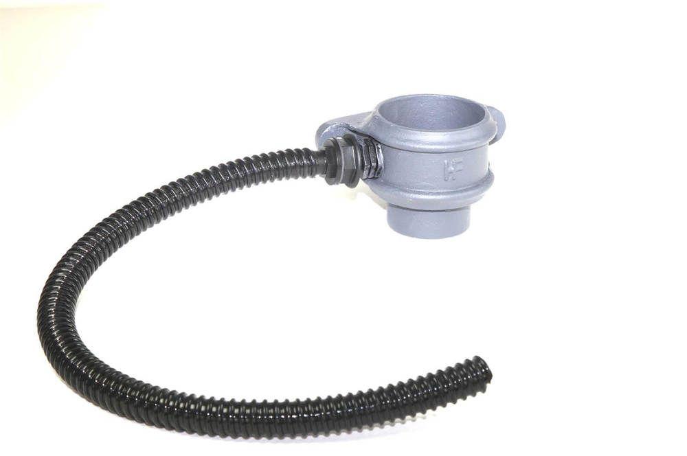 Cast Iron Round Downpipe Diverter Kit Left Hand - 65mm Primed