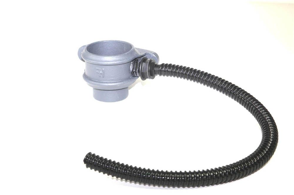 Cast Iron Round Downpipe Diverter Kit Right Hand - 75mm Primed