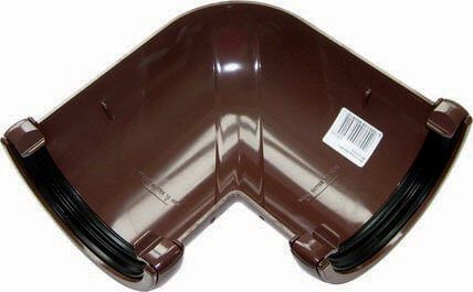 Half Round Gutter Angle - 90 Degree x 112mm Brown