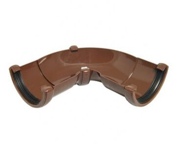 Half Round Gutter Adjustable Angle - 50 to 156 Degree x 112mm Brown