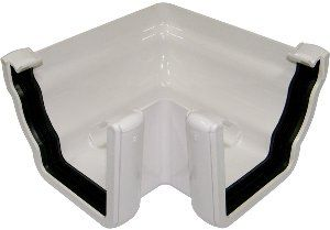 Ogee Gutter External Angle - 90 Degree x 80mm White