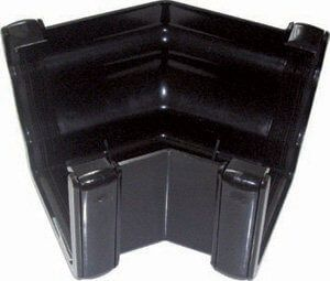 Ogee Gutter External Angle - 135 Degree x 80mm Black - OUT OF STOCK