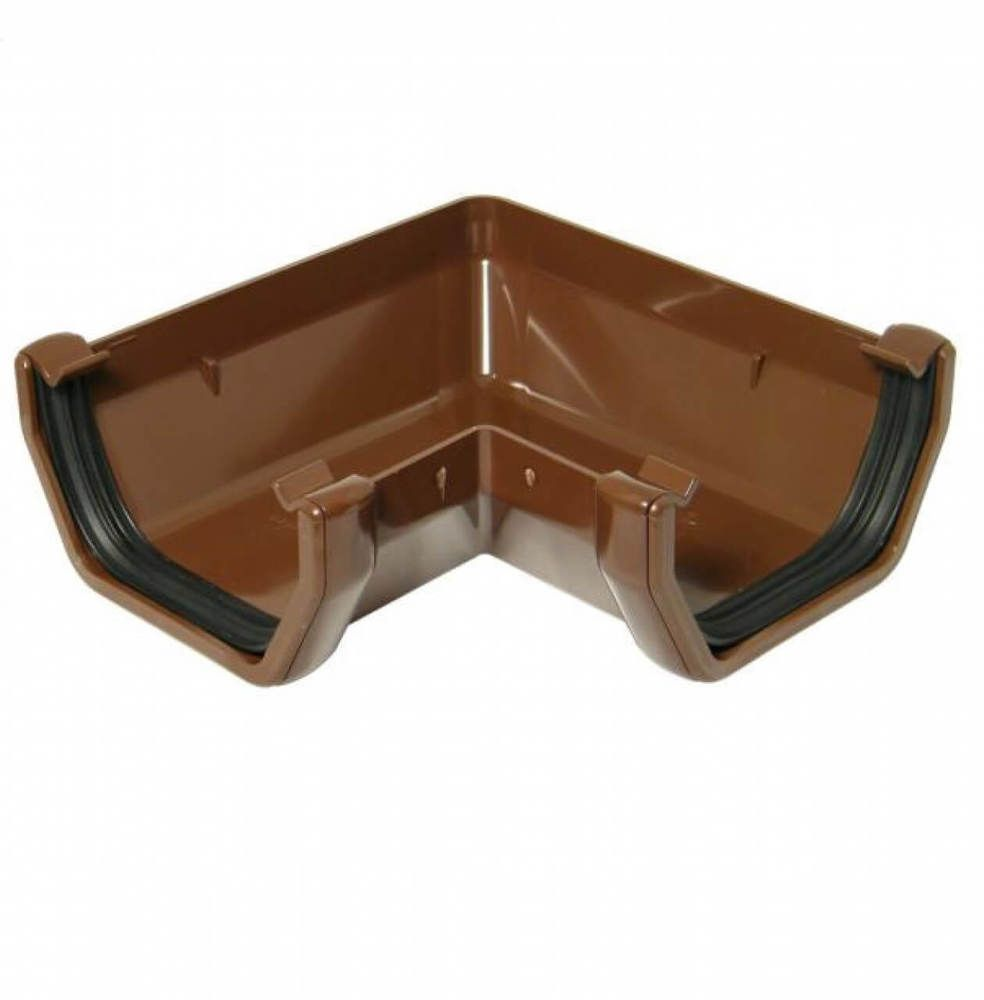 Square Gutter Angle - 90 Degree Brown