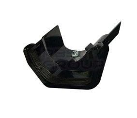 PVC Square to Cast Iron Ogee Right Hand Guter Adaptor - Black