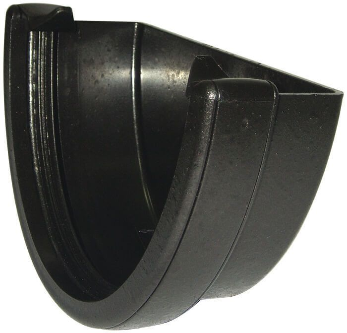 Deepflow/ Hi-Cap Gutter External Stopend - 115mm x 75mm Cast Iron Effect