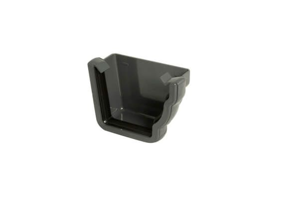 Ogee Gutter External Stopend Right Hand - 110mm x 80mm Anthracite Grey