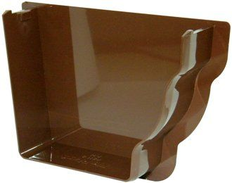 Ogee Gutter Internal Stopend Right Hand - 110mm x 80mm Brown