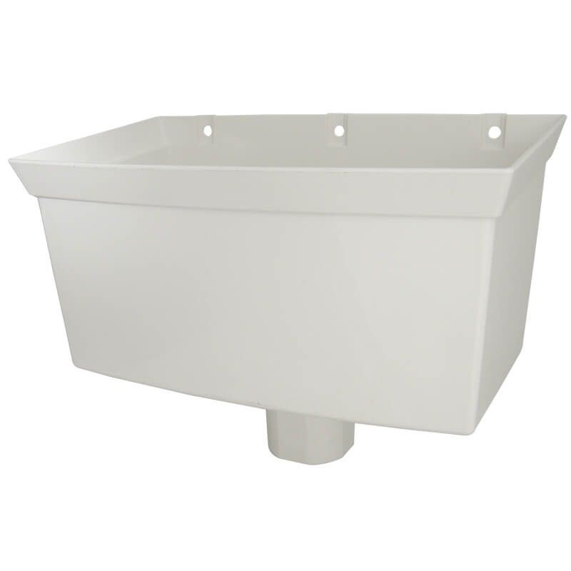 Downpipe Universal Round/ Square Hopper - White