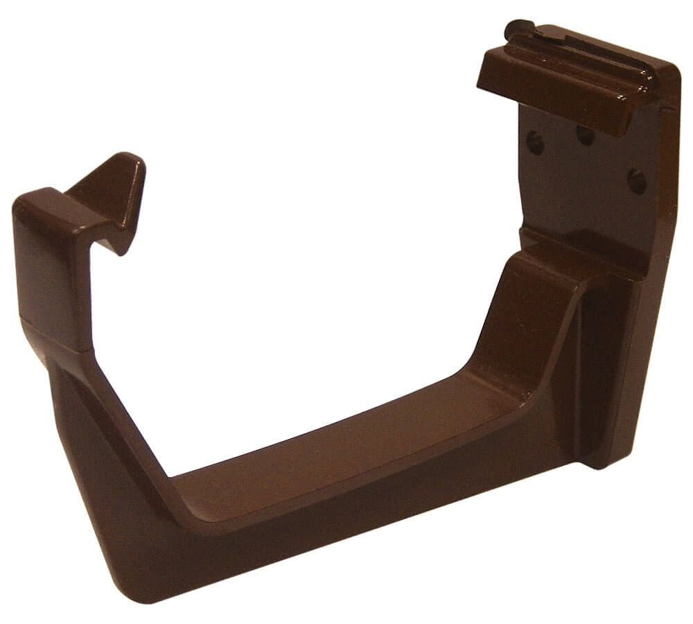 Square Gutter Fascia Bracket - 114mm Brown