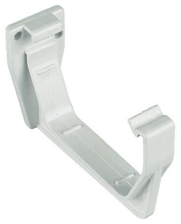 Square Gutter Fascia Bracket - 114mm White
