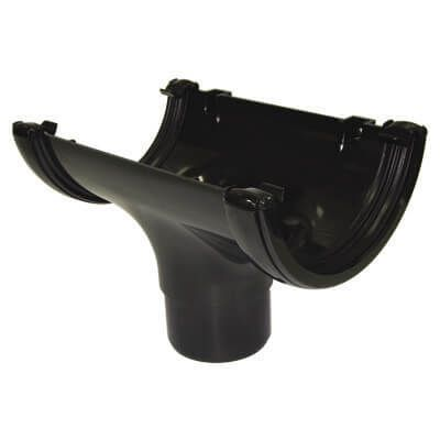 Mini Gutter Running Outlet - 76mm Black