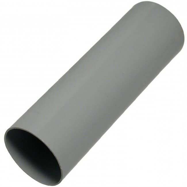 Round Downpipe - 68mm x 4mtr Grey