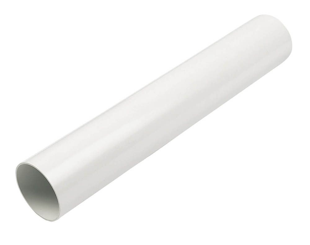 Round Downpipe - 68mm x 4mtr White