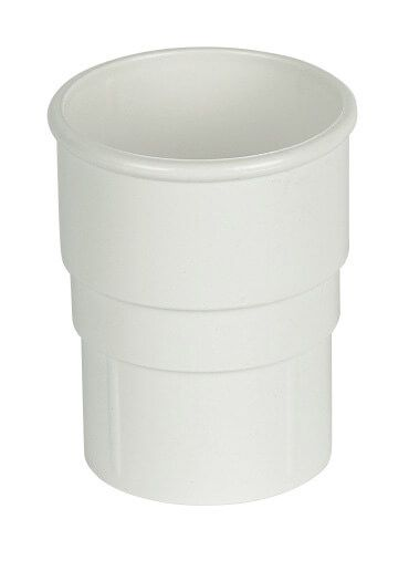 Round Downpipe Socket - 68mm White
