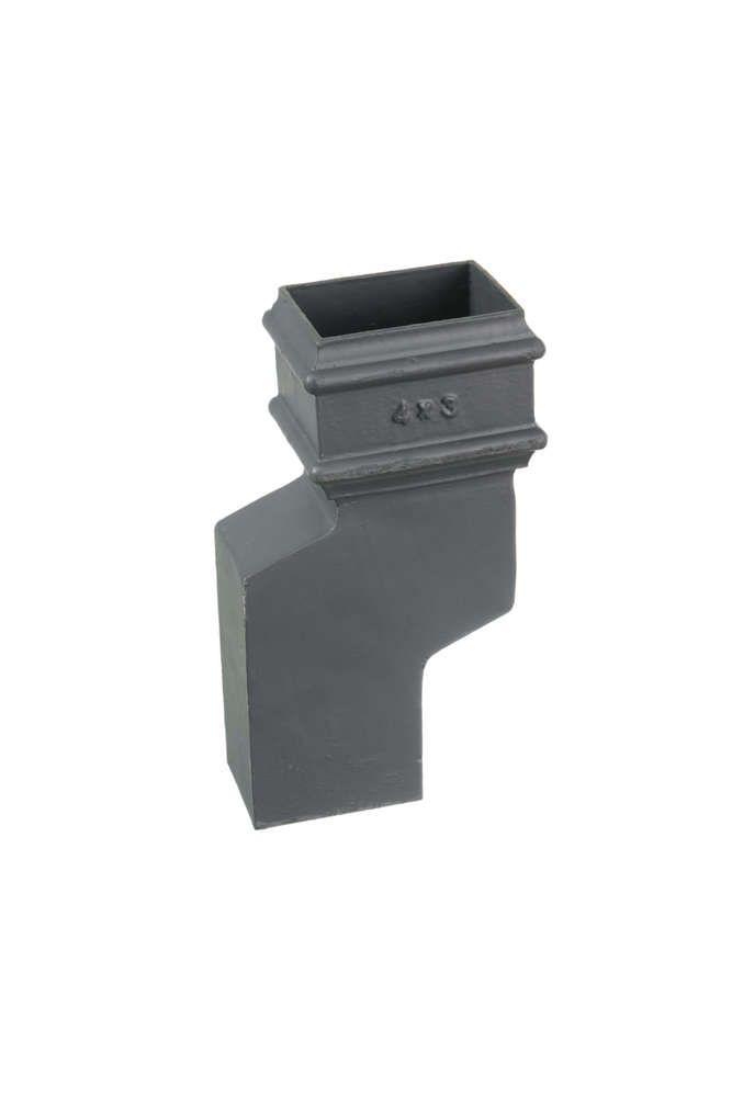 Cast Iron Rectangular Downpipe - 56mm Side Projection 100mm x 75mm Primed