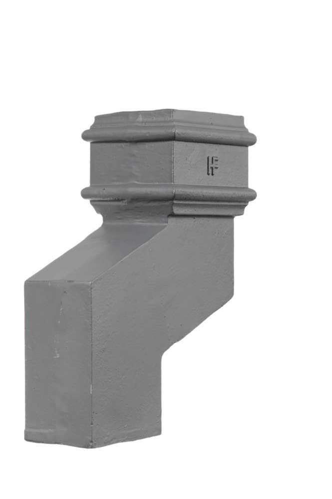 Cast Iron Rectangular Downpipe - 150mm Side Projection 100mm x 75mm Primed