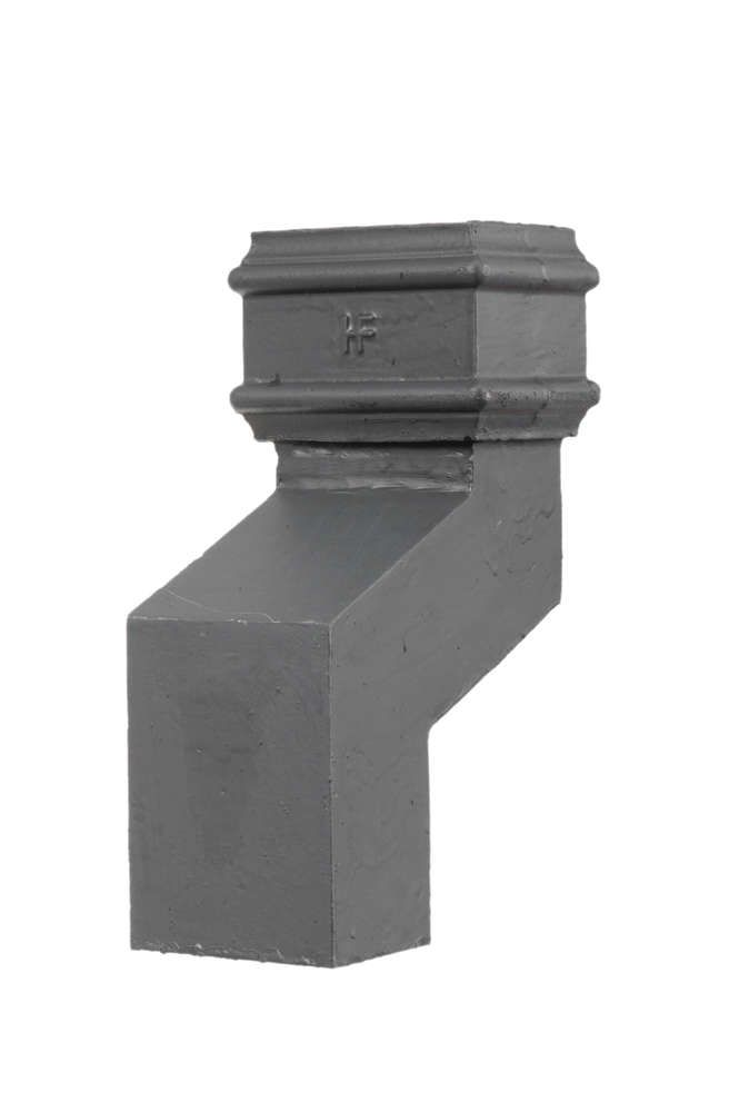 Cast Iron Rectangular Downpipe - 150mm Front Projection 100mm x 75mm Primed
