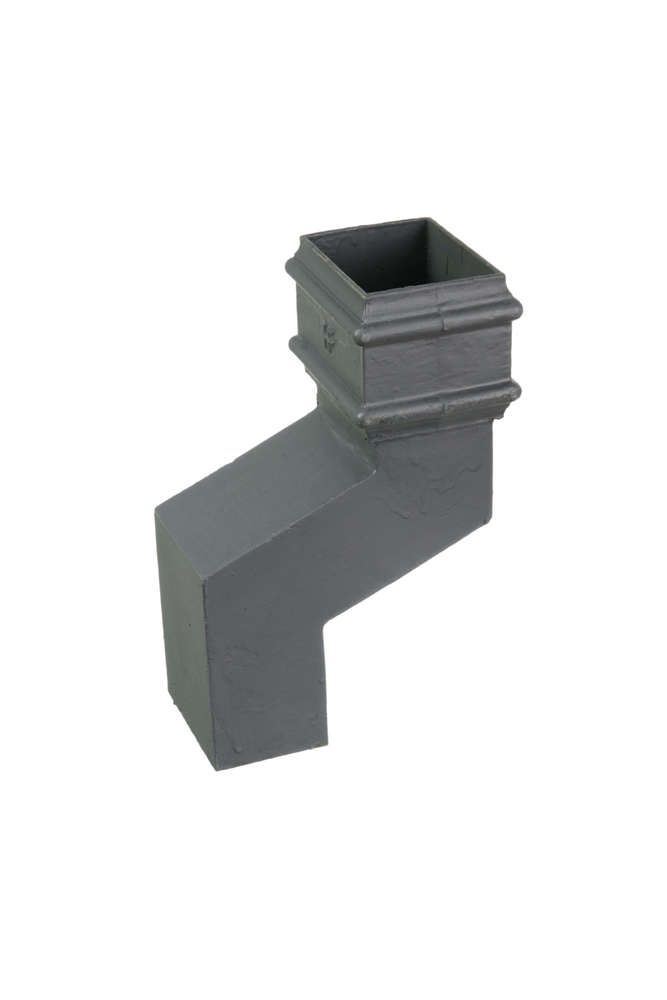 Cast Iron Rectangular Downpipe - 230mm Front Projection 100mm x 75mm Primed